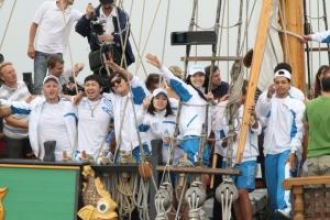 Корпоратив на море на яхте Либава